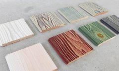杉燻煙処理の浮造り材(エイジング塗装)